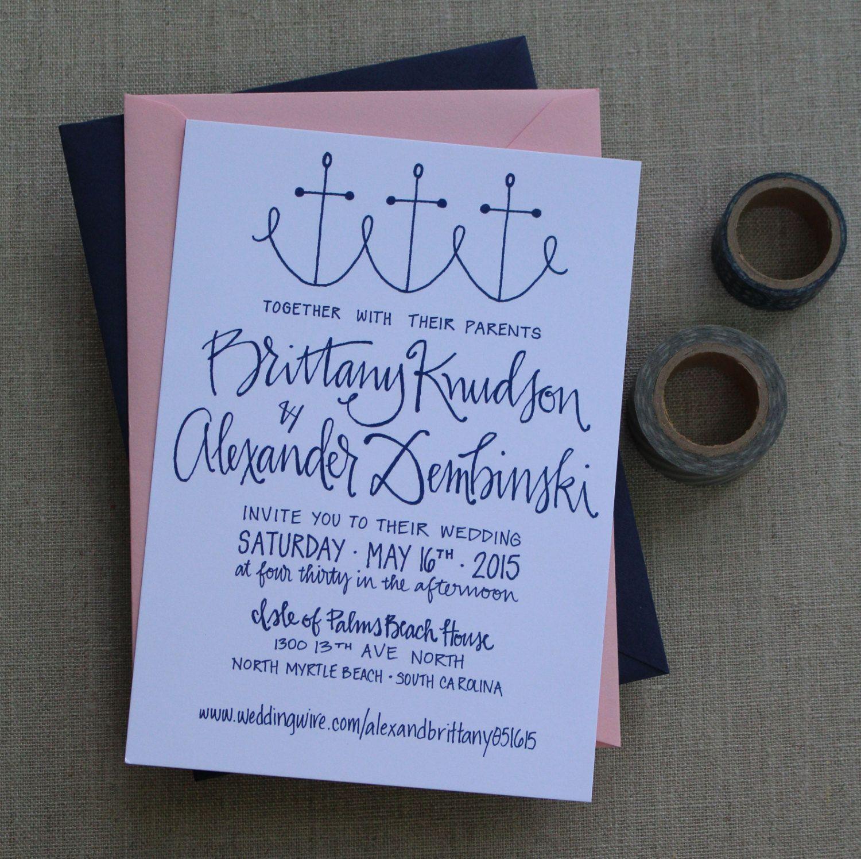 tie the knot wedding invitations etsy%0A Nautical Wedding Invitation by GreySnailPress on Etsy