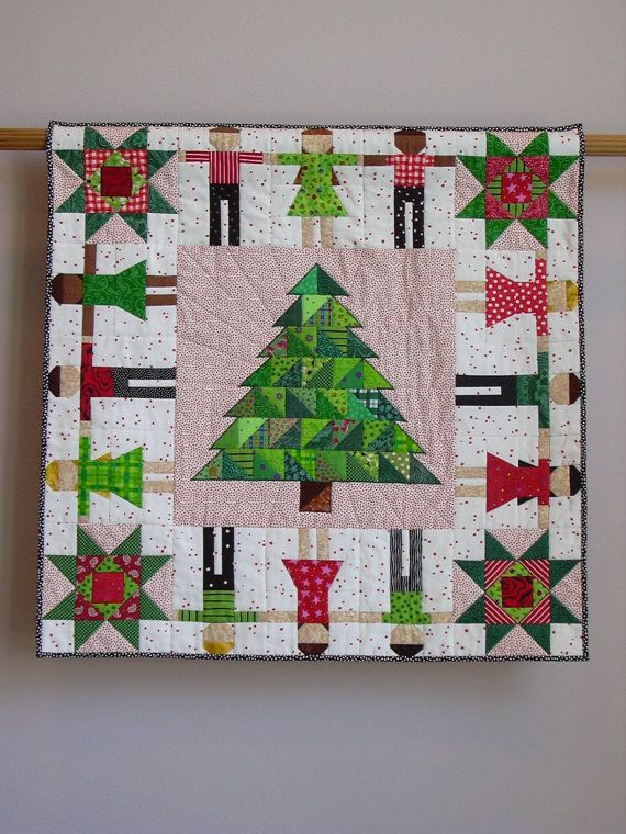 Oh Christmas Tree Wall Quilt Etsy Christmas Quilts Christmas Tree Quilt Christmas Patchwork