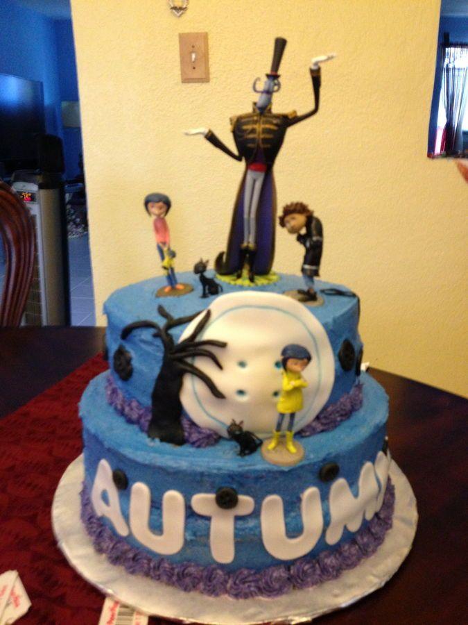 Brilliant Coraline Cake Picture Cakepins Com Coraline Funny Birthday Cards Online Inifodamsfinfo