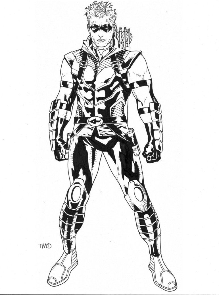 Green Arrow Coloring Pages Download