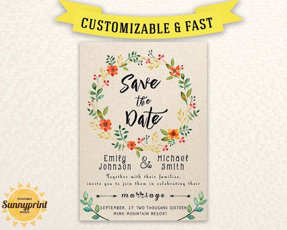 picture about Printable Save the Date Cards named Printable Help you save the Day Template - Conserve the day printable