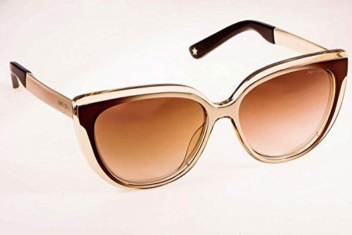 38dad559121 Jimmy Choo 1RX Grey Ivory Gold Cindy Cats Eyes Sunglasses Lens Category 3  Lens