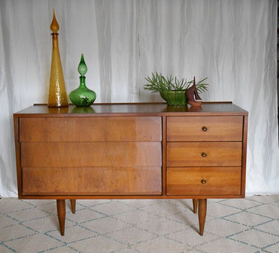 Reserve For Carrie Harmony House Mid Century Modern Dresser Console Credenza Buffet Tv Stand Original