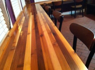 Delightful Cedar Countertop Custom Fit To Grant Park Coffeehouse In Atlanta, GA