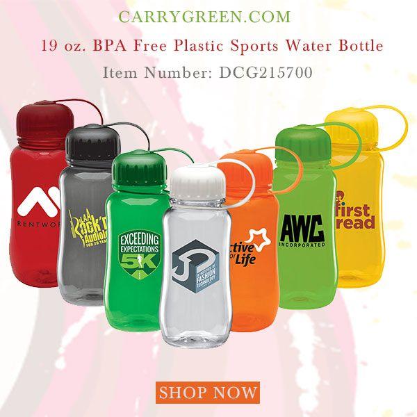 19 Oz Bpa Free Plastic Sports Water Bottle Custom Printed Water Bottles Bpa Free Plastic Bpa Free Bottles
