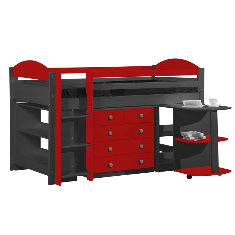 lit combin enfant en pin massif coloris au choix marvel 2 lit enfant avec rangement lit. Black Bedroom Furniture Sets. Home Design Ideas