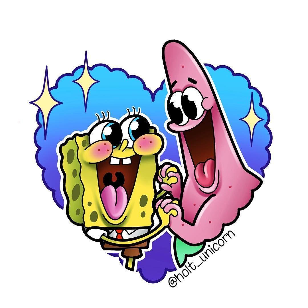 Spongebob And Patrick Tattoo Design Spongebob And Patrick Tattoo Design Bestfriendtatto Design Hea Spongebob Drawings Spongebob Tattoo Cartoon Wallpaper