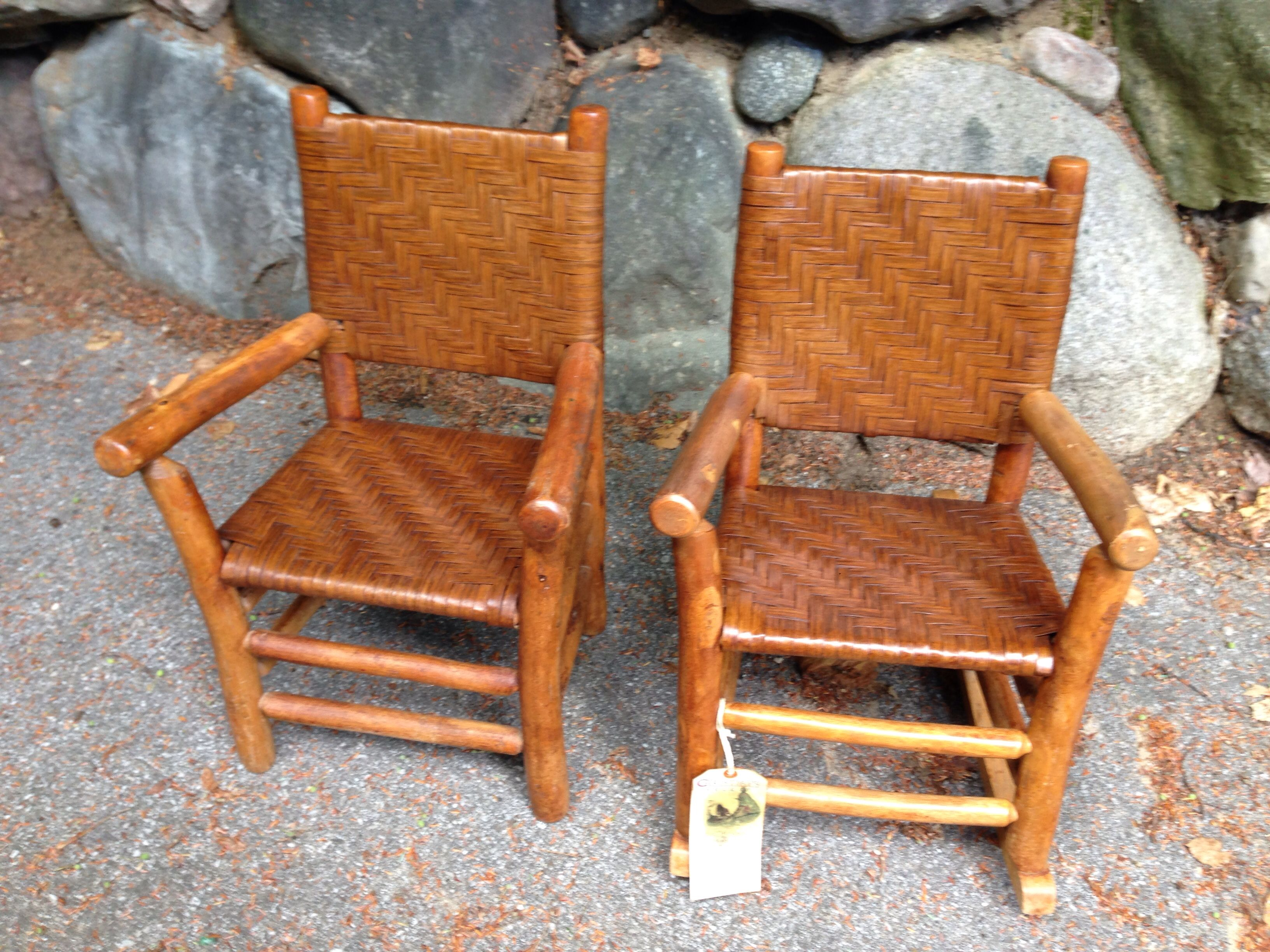 old hickory childu0027s set arm chair and rocker by columbus hickory coavailable christibys - Old Hickory Furniture