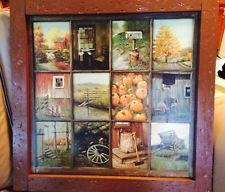 Nice Vintage Home Interior Homco B Mitchell Window Pane Picture Rustic, Country  Prim
