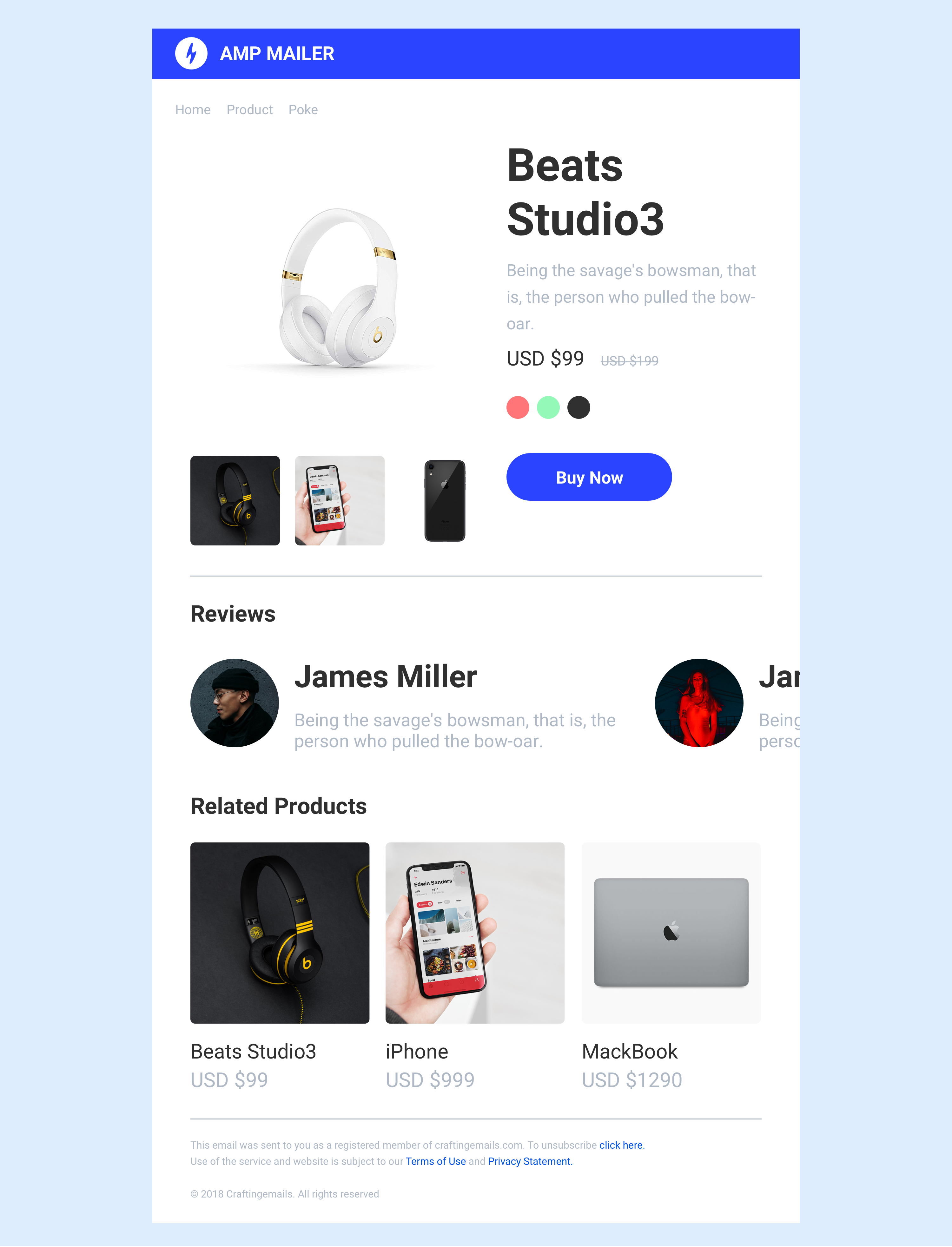 AMP Email template newsletter Email templates, Free