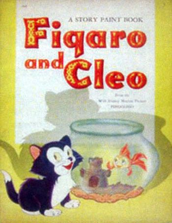 Pinocchio-Figaro and Cleo Story Paint Book
