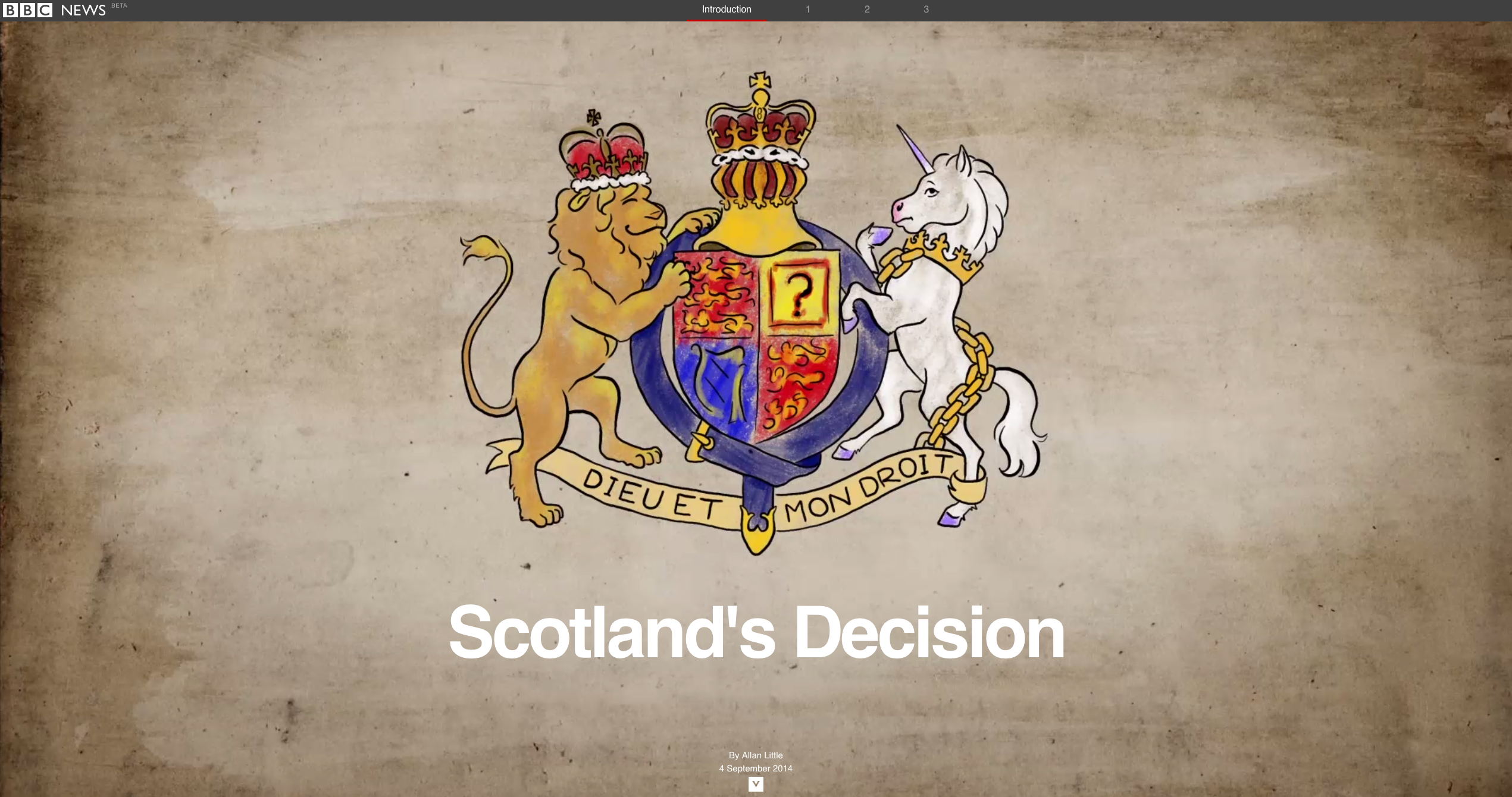 A Bbc News Immersive On The 2014 Scottish Referendum Explaining Some Of The Events Leading Up To This Historical Vote Scottish Referendum Scotland Bbc News