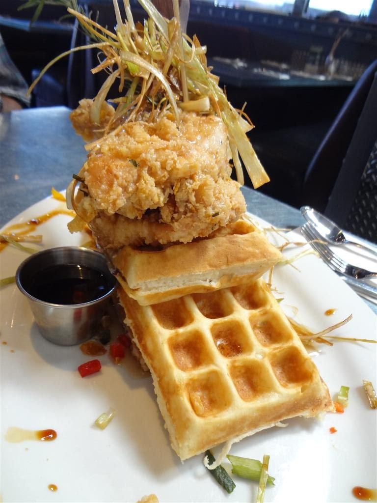 Crazy Chicken And Waffles At Hash House A Go Go In Vegas (FYI: I Did Not  Order This)