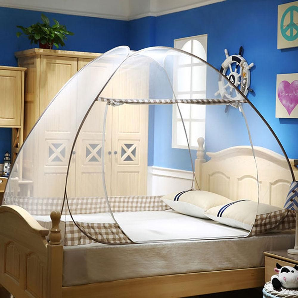 Free Standing Pop Up Mosquito Net Tent Bed Canopy With