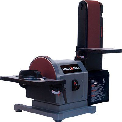 Porter Cable Pcb420sa 4 In X 8 In Belt Disc Bench Sander Porter Cable Bench Sander Woodworking Bench