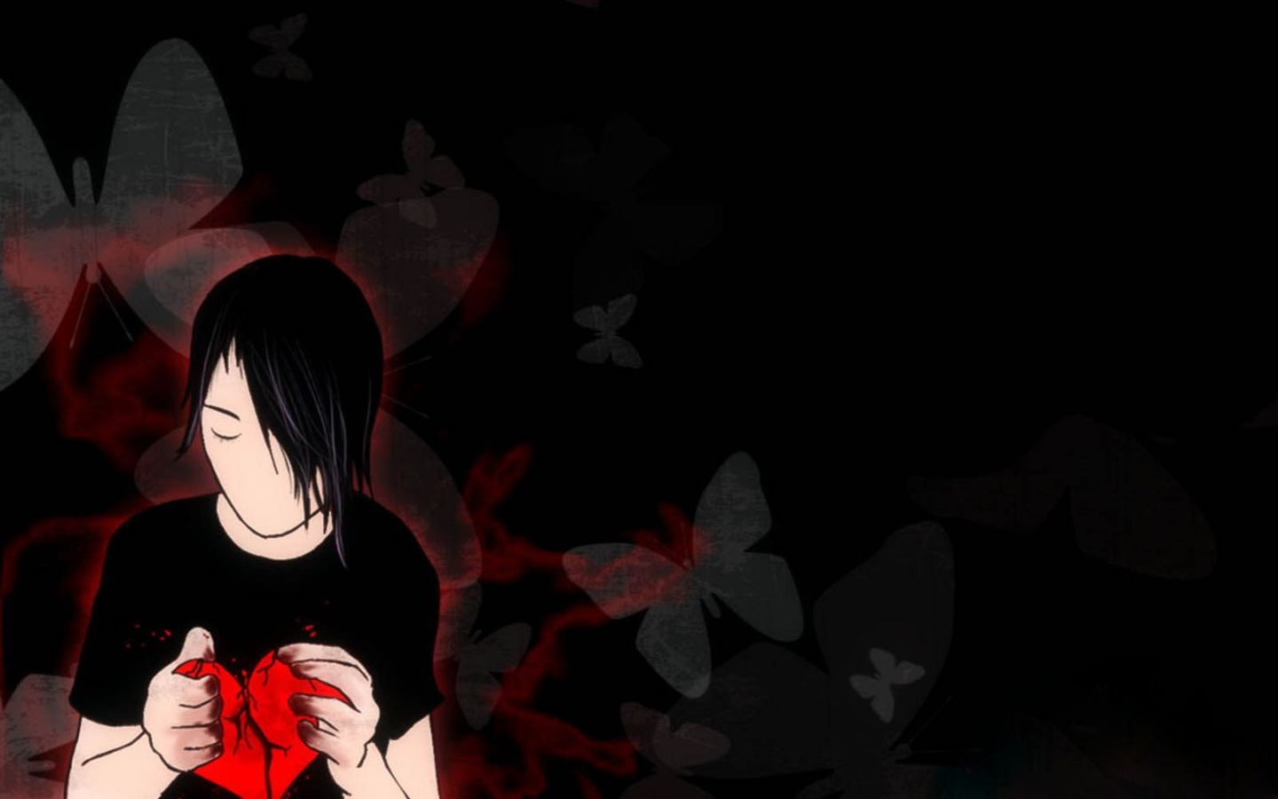 Broken Heart Emo Wallpapers Emo Wallpaper Wallpaper Broken Heart Images