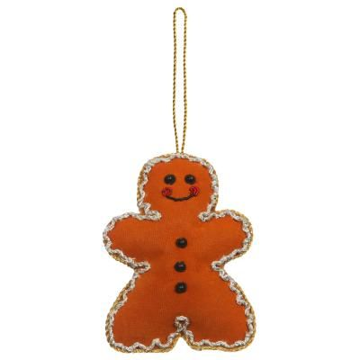 Embroidered Gingerbread Man Christmas Decoration Christmas