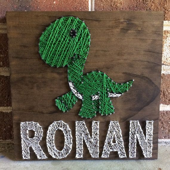 Custom Dinosaur Name String Art Baby Room, Nursery, Kids Room, Kid Gift, Wood Sign Wall Art Home Decor, Dino-MADE TO ORDER