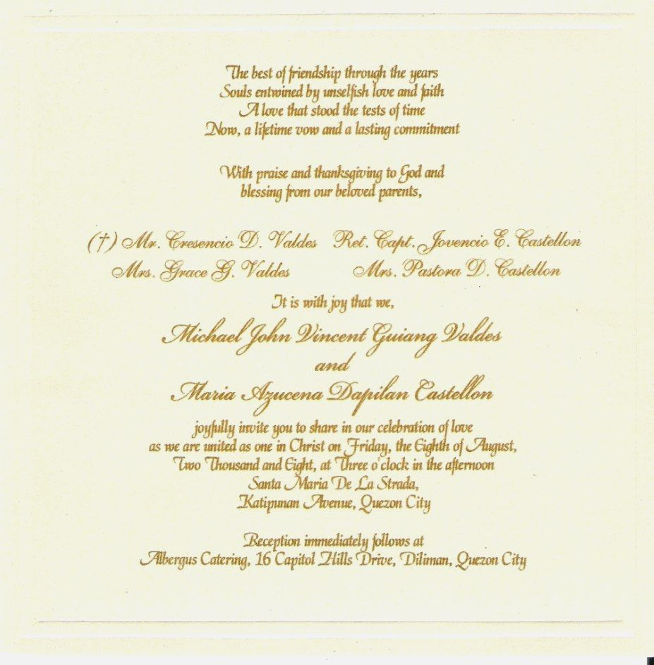 Affordable Sample Wedding Invitation Wording To Bring Your Dream