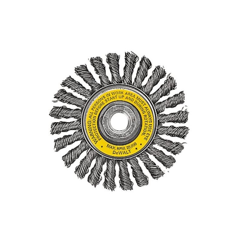 Dewalt dw4930 4 full cable twist wire wheel with carbon