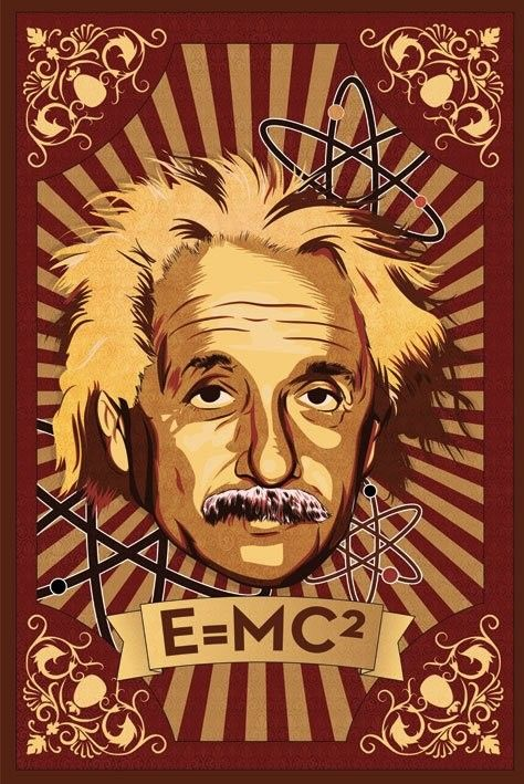 эйнштейн альберт постер называют какую-то