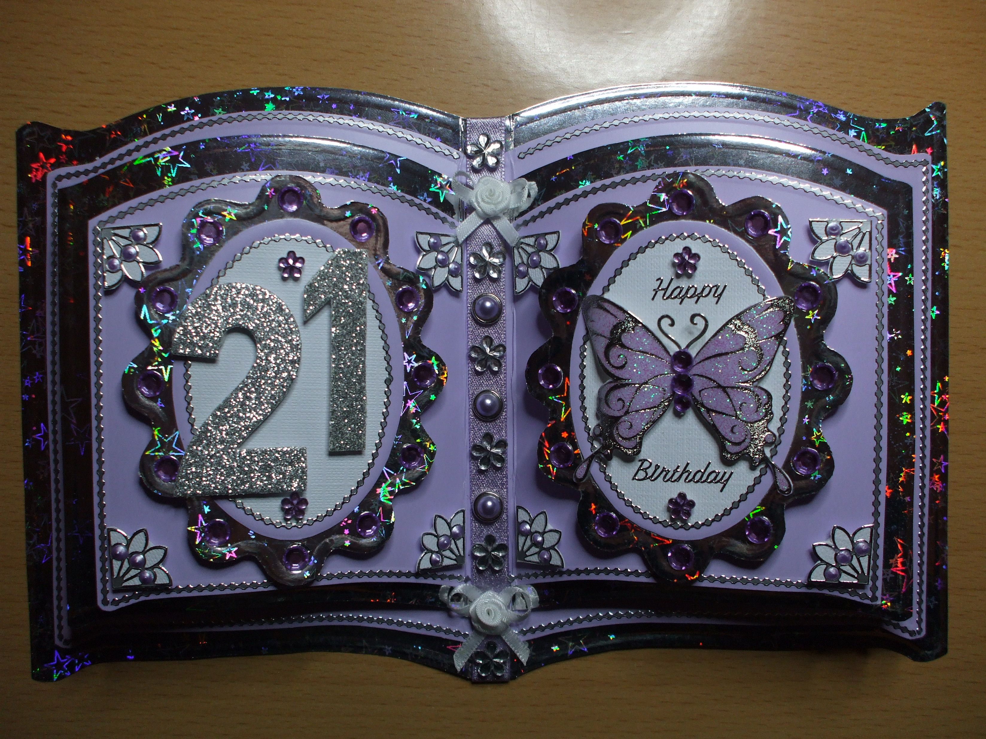 Commission 21st Birthday Bookatrix Crafters Companion Cards Cards Handmade Birthday Cards