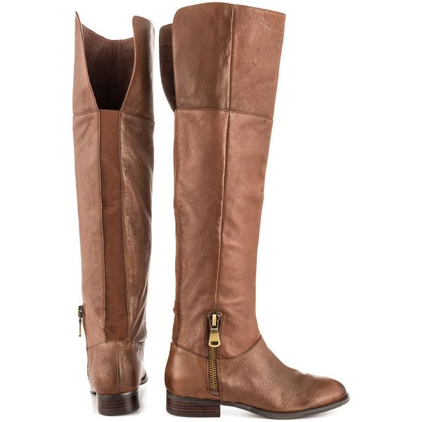 Chinese Laundry Women's Fawn - Brown Leather ($25) ❤ liked on Polyvore  featuring shoes