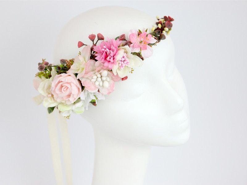 Kwiatowy Wianek Na Glowe Lolawhite Kwiaty Do Wlosow Accessories Fashion Band