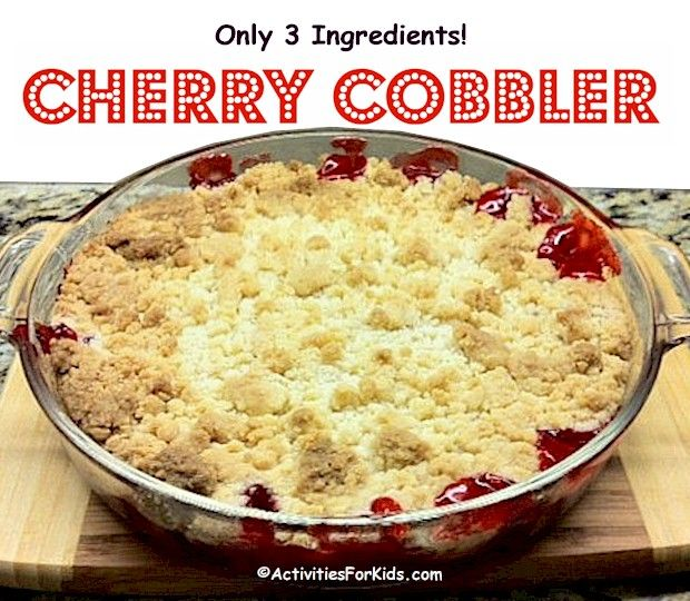 3 ingredient easy cherry cobbler super easy cherry cobbler recipe using ingredients that you already have on hand recipe at forumfinder Images