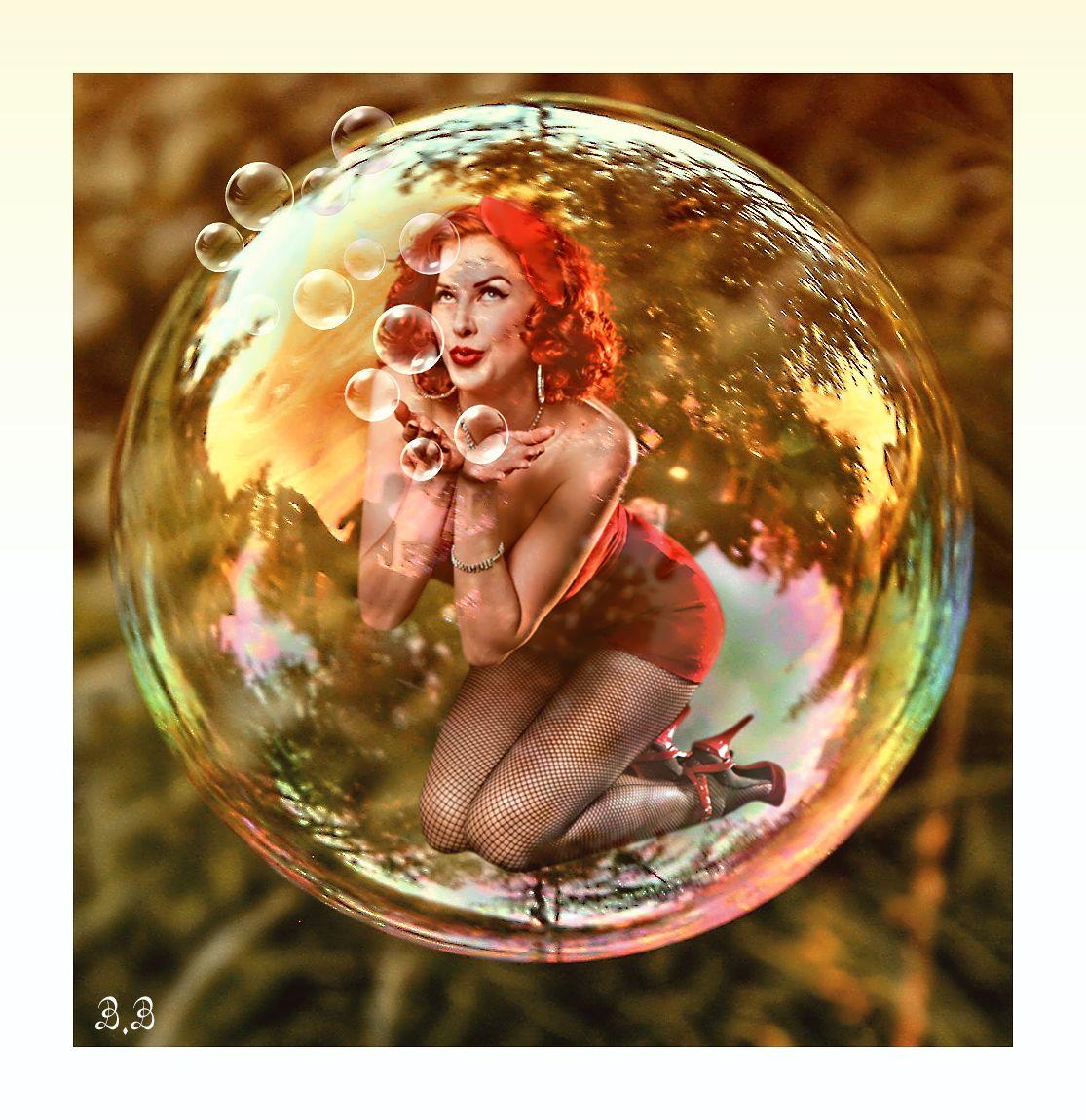 En mi burbuja.