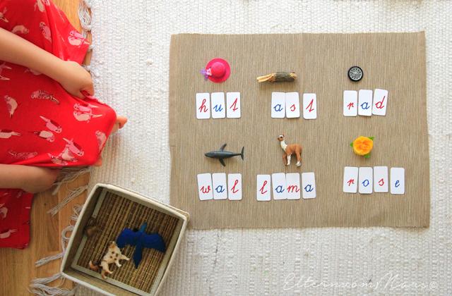 Montessori Kartenmaterial, Montessori für zu Hause