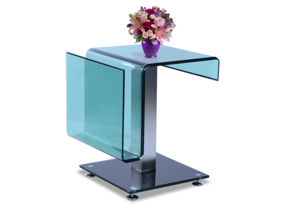 The Way The Glass Of Side U0026 End Table Is Bend It Can Be Used As Rack Also  For Keeping Your Magazines, Newspaper U0026 Other Reading Material Of Your ... Nice Ideas