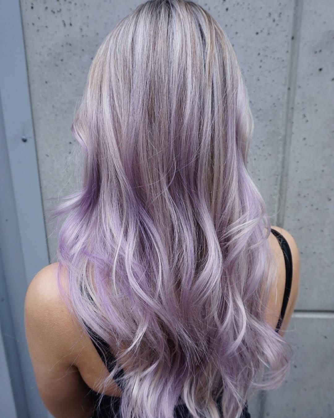 Pastel Purple Hair With Lowlights Pastel Purple Hair Purple Blonde Hair Low Lights Hair