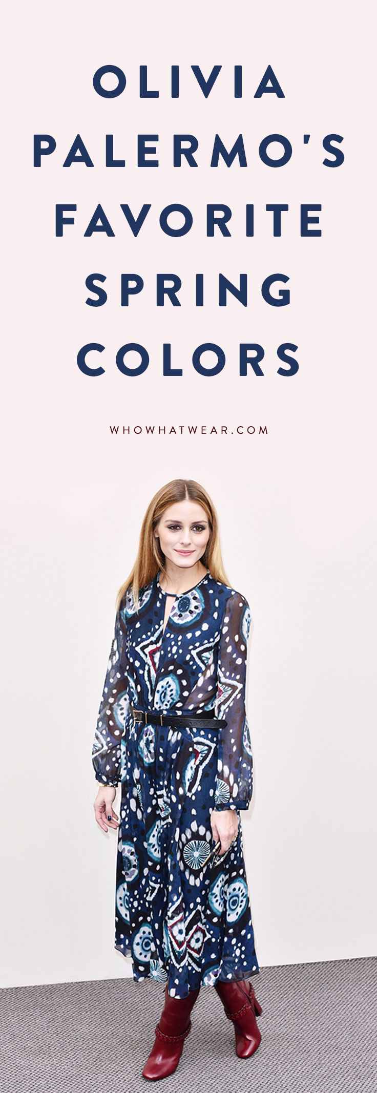 What colors to wear this spring, according to Olivia Palermo.