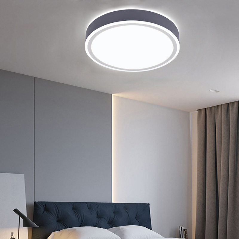 Modern Simple Led Flush Mount Double Layers Circualr Lamp Artistic Ceiling Light Living Room Bedroom Light 8156 Ceiling Lights Living Room Living Room Lighting Ceiling Lights