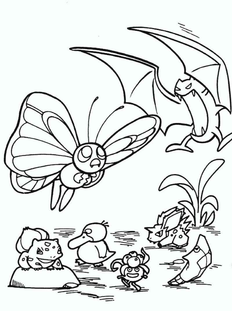 Butterfree And Golbat Pokemon Coloring Pages Pokemon Coloring Pages Pokemon Coloring Cute Coloring Pages