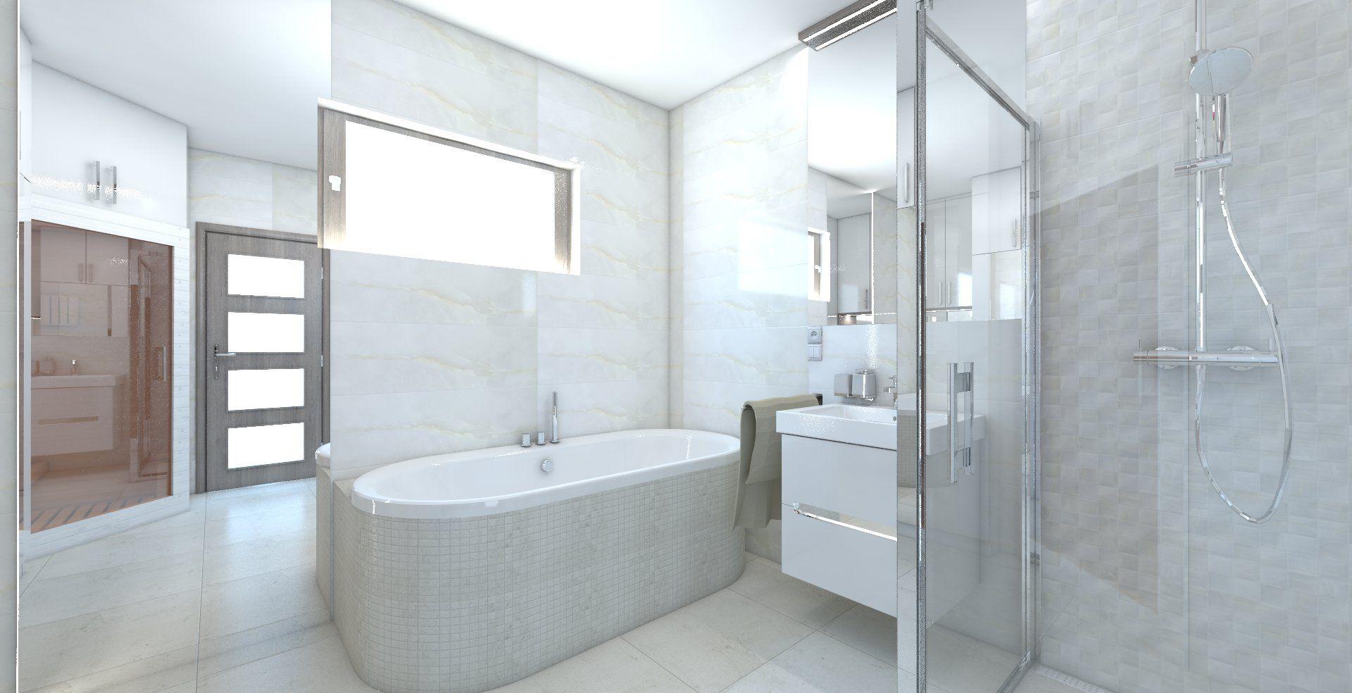 Kúpeľňa s obkladom v imitácii mramoru. Obklad Grespania Versailles ...