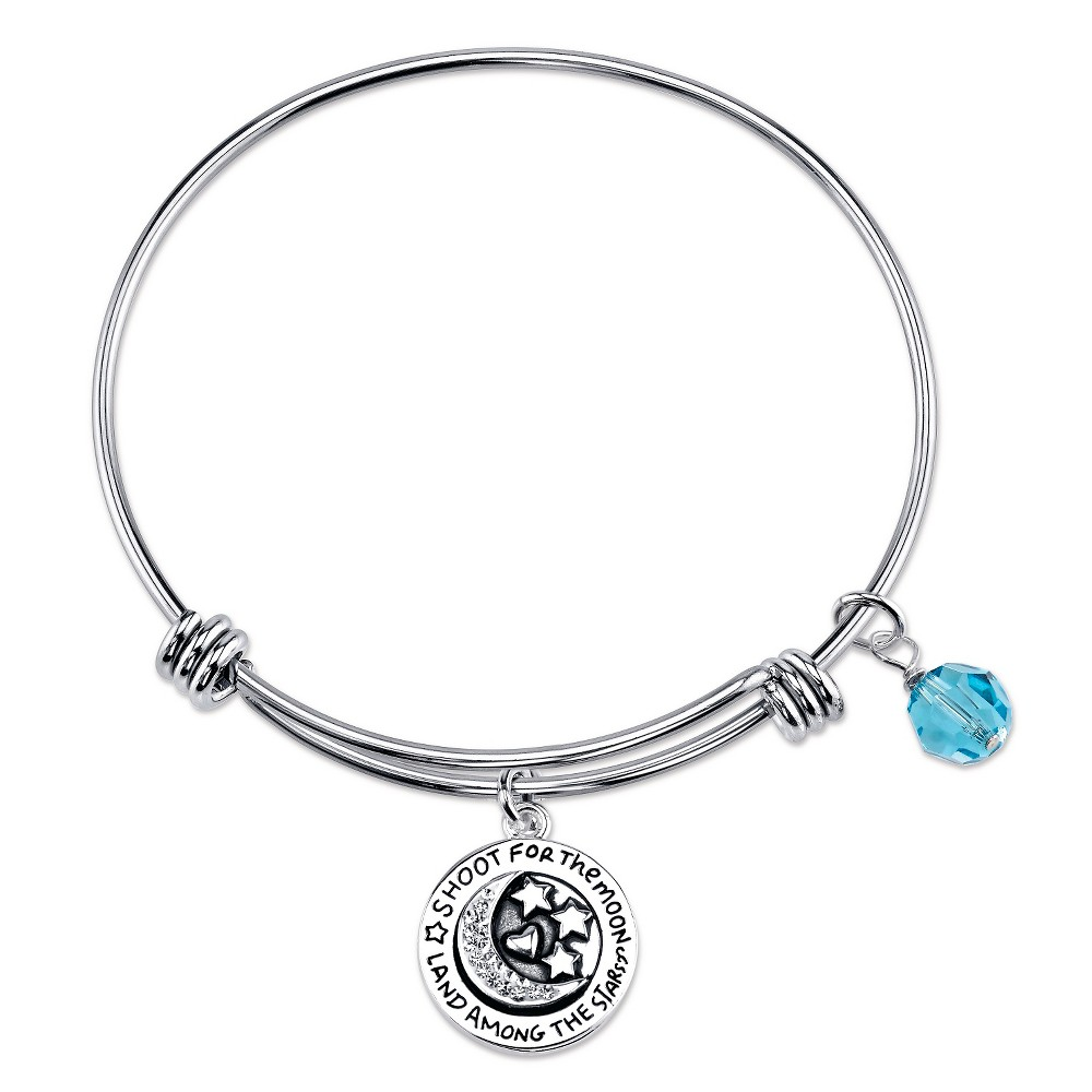 2341730c5c89b Women's 'Shoot for the Moon' Expandable Bangle in Stainless Steel ...