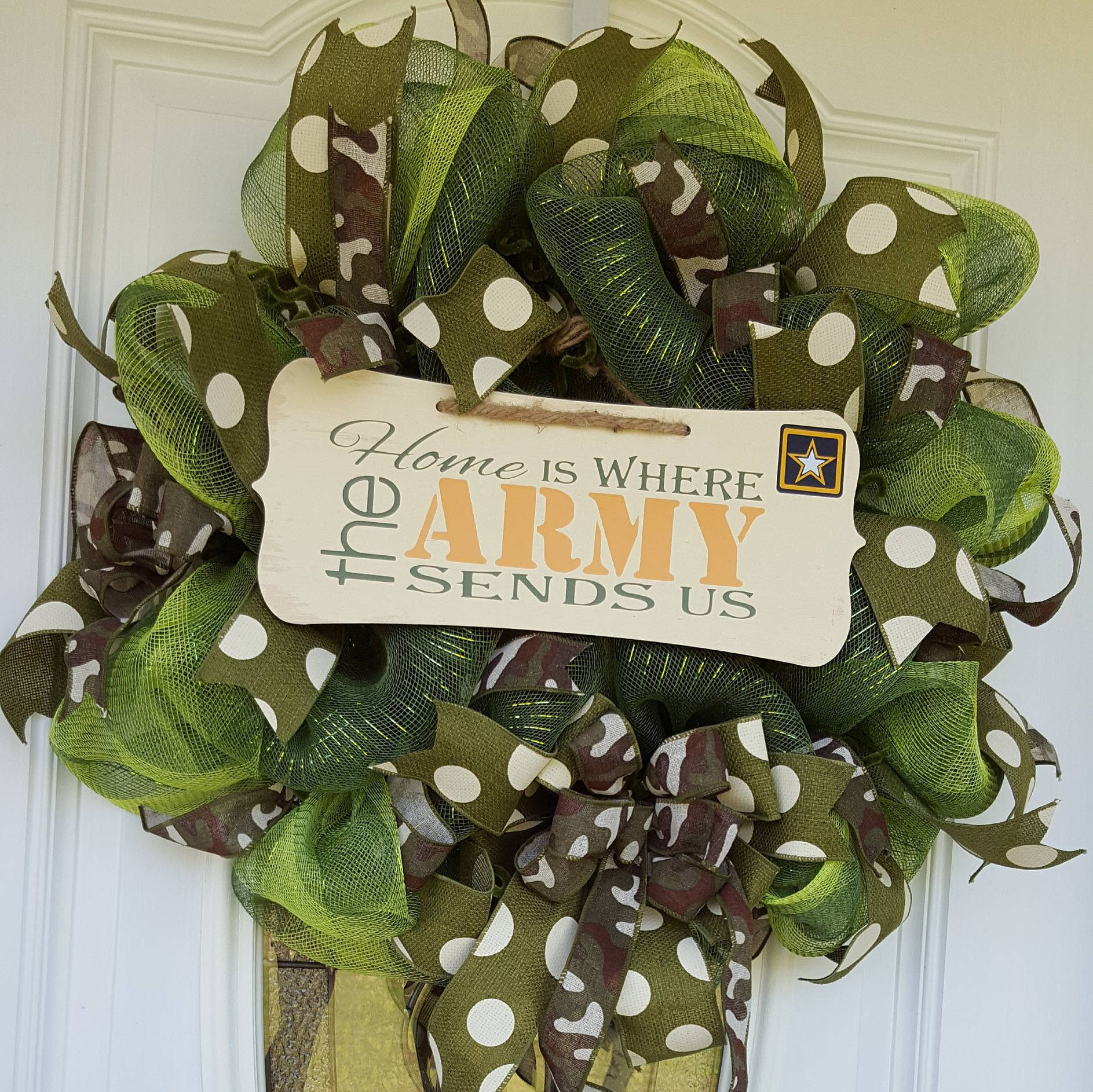 Military Mesh Wreath, Army Wreath, Camouflage Wreath, Door, Wall, Decor,