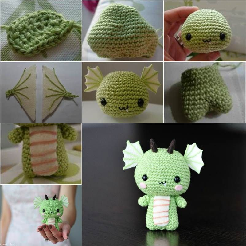 How to Make a Cute DIY Amigurumi Crochet Dragon | Amigurumi ...