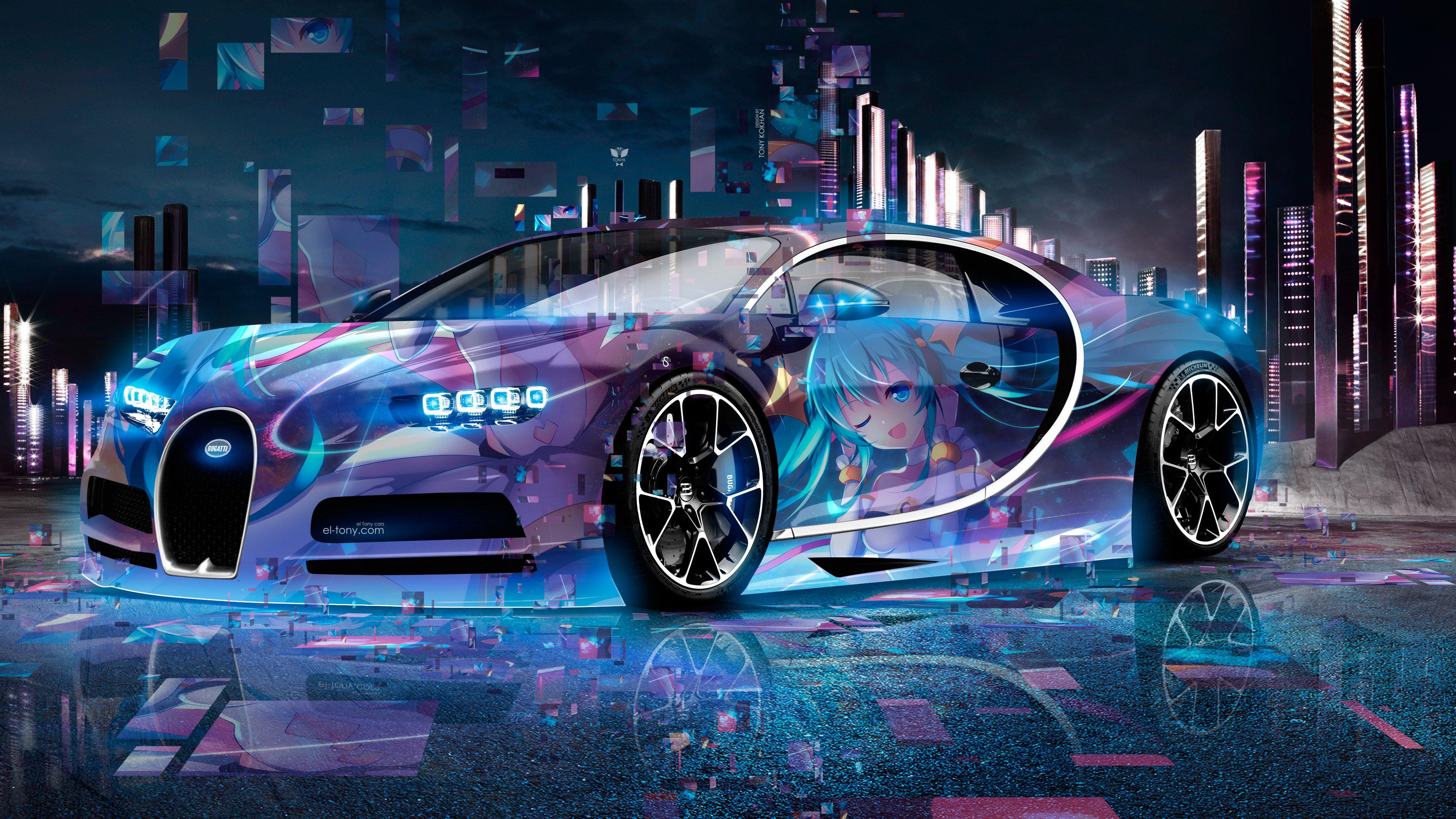 Neon Wallpaper Bugatti In 2020 With Images Neon Wallpaper