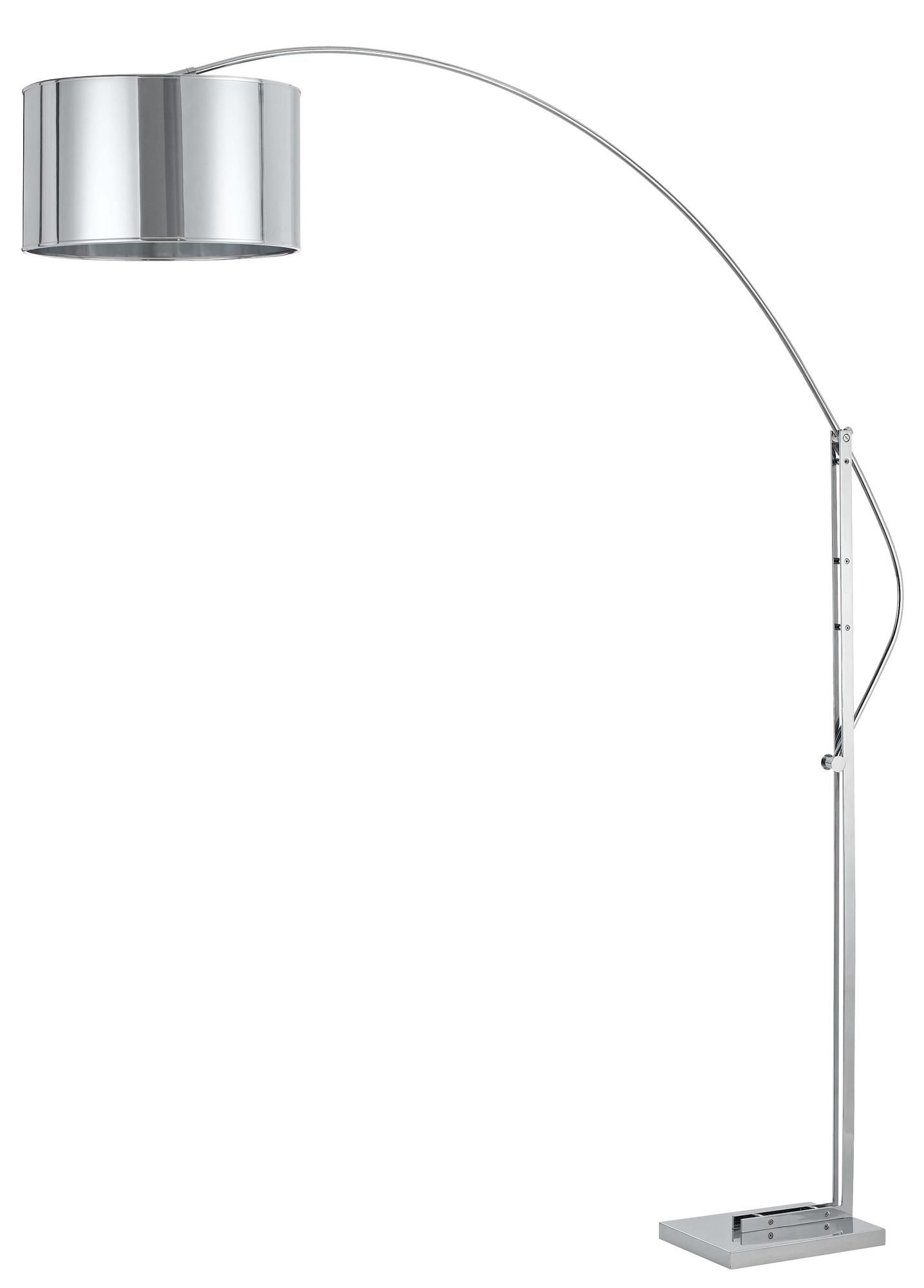 Arc Floor Lamp Black Shade Cristophe Chrome Adjustable Arc Floor Lamp 349 91
