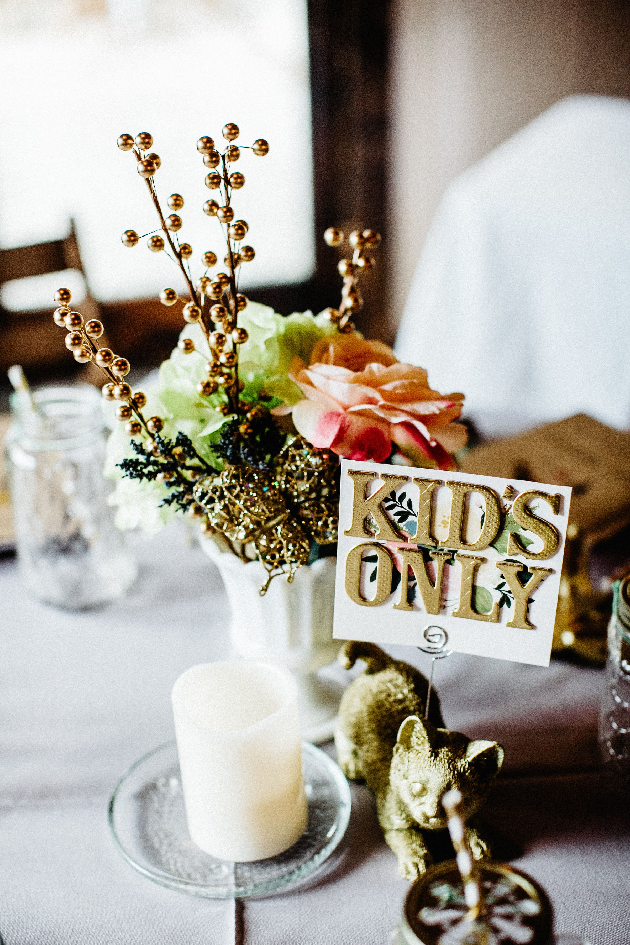 kids only table for your wedding reception