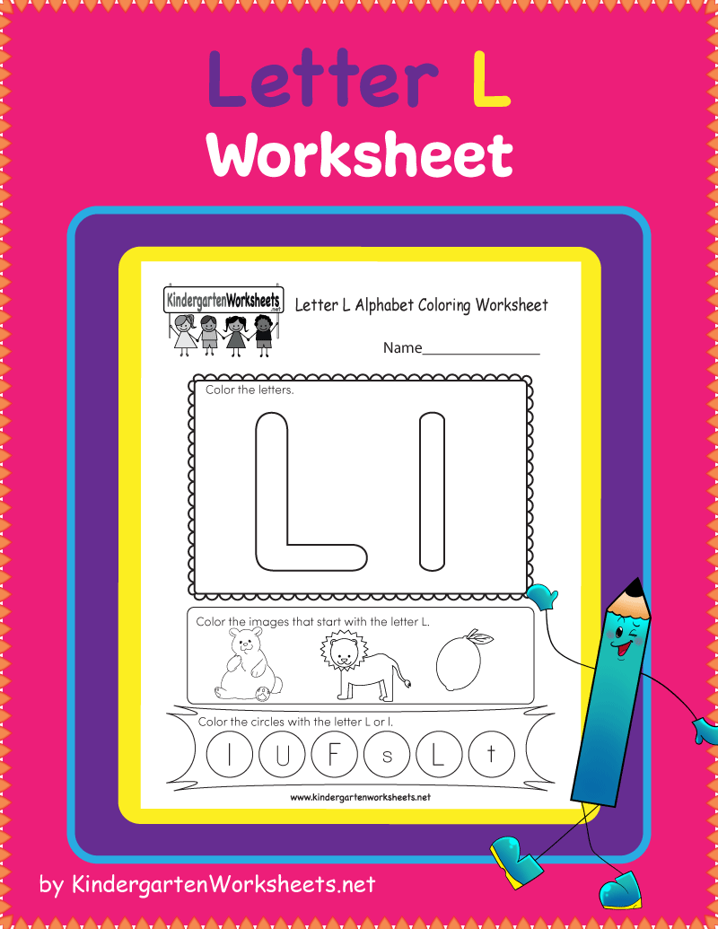 This Is A Fun Letter L Worksheet Students Are Asked To Color And In 2020 With Images English Worksheets For Kids English Worksheets For Kindergarten Letter L Worksheets [ 1035 x 800 Pixel ]