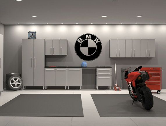 Bmw Garage Rotterdam : Bmw emblem garage interior wall decal sticker garage pinterest