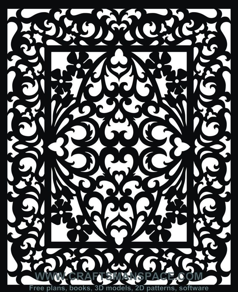 Scroll Saw And Fretwork Vector Patterns Free Patterns Risunok