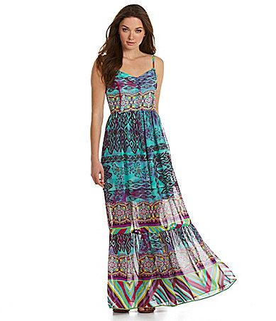 Betsey Johnson MixedPrint Maxi Dress at Dillards | Spring Fashion ...