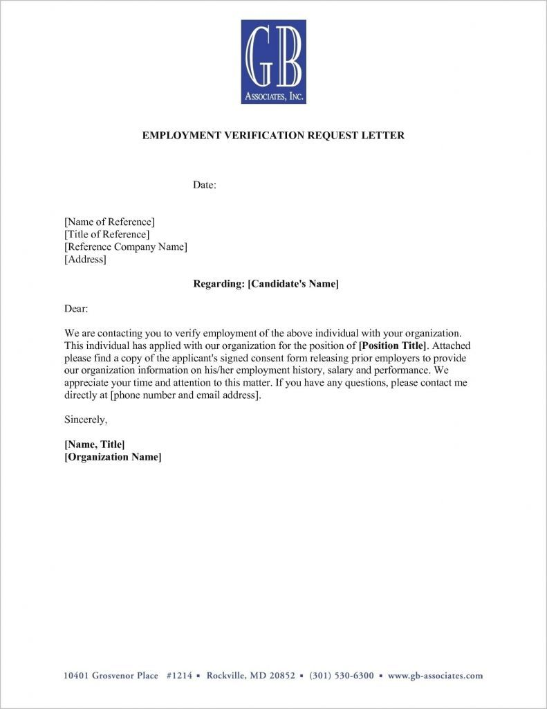 Fresh Employment Verification Letter For You Letter Template