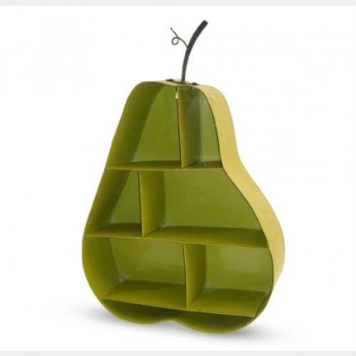 Pear Wall Shelf in Green - Funky