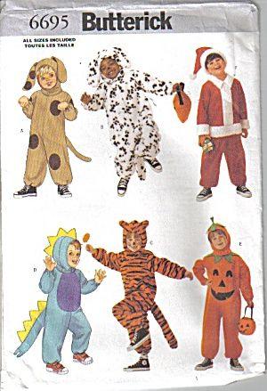 Kids Animal Costume Butterick Pattern #6695 (Image1)